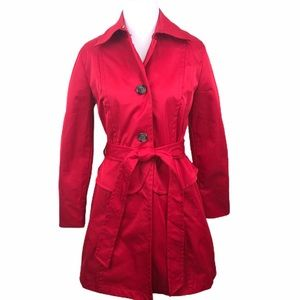 Plenty by Tracy Reese Red Trench Coat Jacket